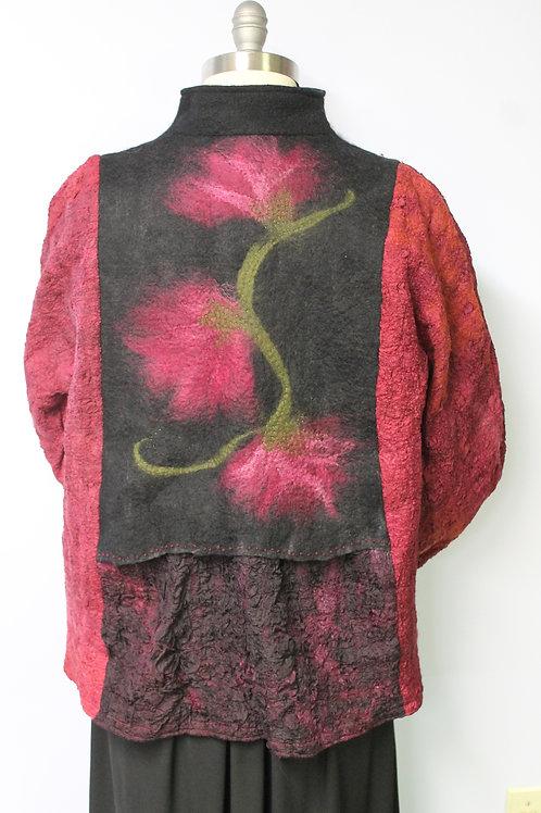 Lightweight, flowered jacket