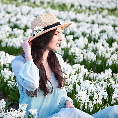 Tulip fields with Nastia