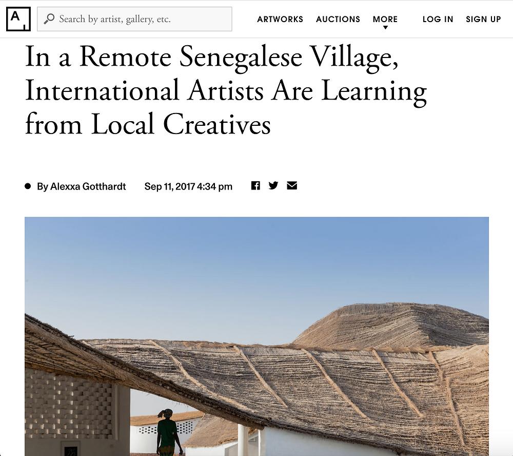 artist residency in senegal
