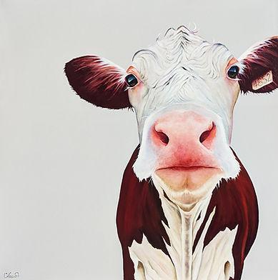 Hank  30``x 30`` acrylique Carole Lessar
