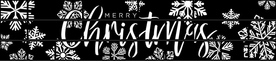 Custom Merry Christmas Cover Set - 10W x 3H