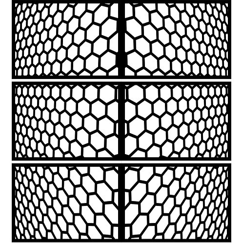 Perspective Hexagons Cover Set