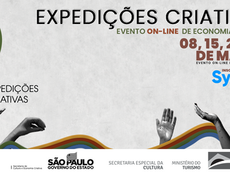 Evento Expedições Criativas começa dia 08 de março.