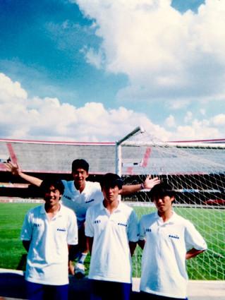 1996年3月、三重県高校選抜でブラジル遠征