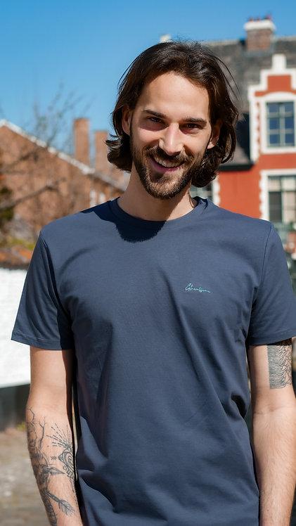 Signature T-shirt Blauwgrijs