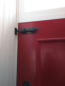 Installed Small Door Latch