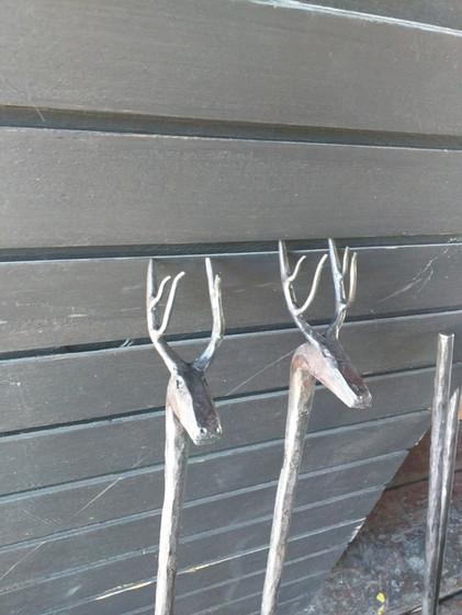 Fireplace Tool Heads Close up