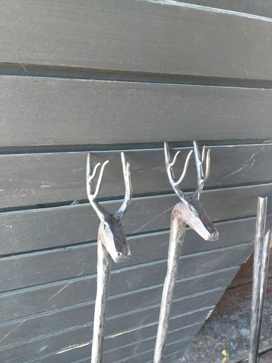 Fireplace Tools with Deer Heads