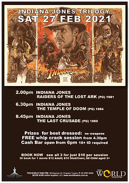INDIANA JONES TRILOGY one day  ONLY