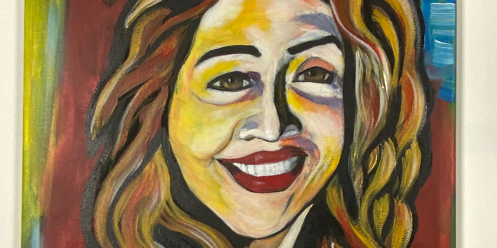 Paint Your Selfie - Virtual or In-Person Artsy Party Ages 12 & up!  SOLD OUT