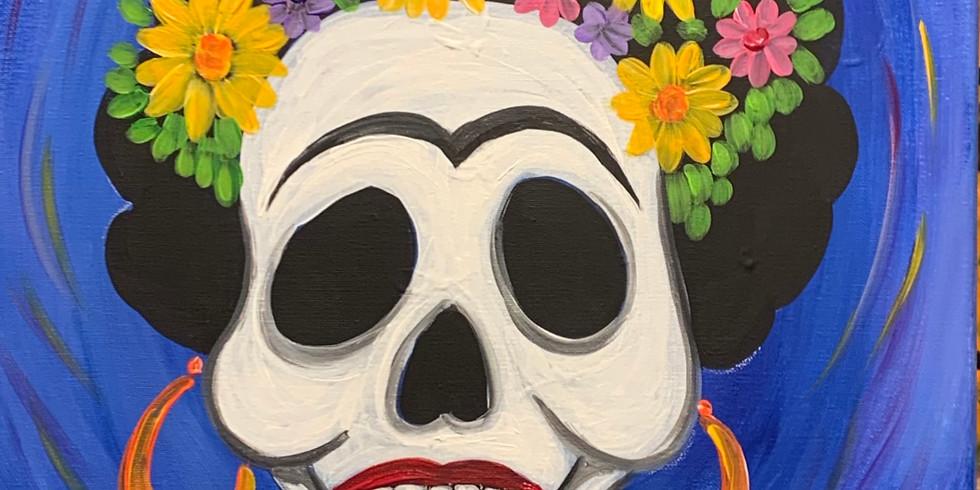 Day Of The Dead Calavera - Public Artsy Party!