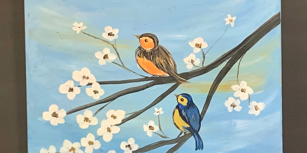 Virtual Artsy Party!-Birdy Morning