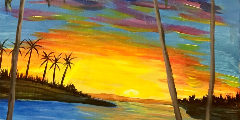 Caribbean Paradise! Virtual or In- Person Artsy Party!