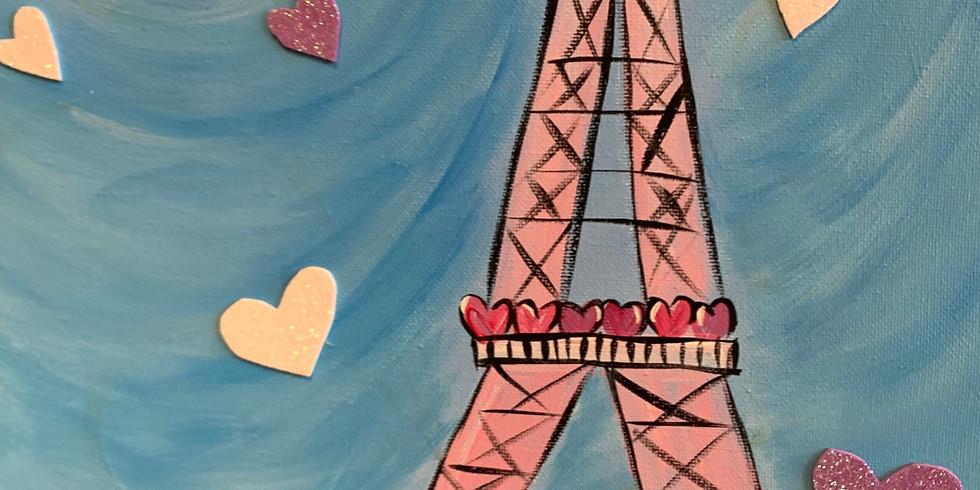 Virtual Artsy Party!- Eiffel Tower In Spring