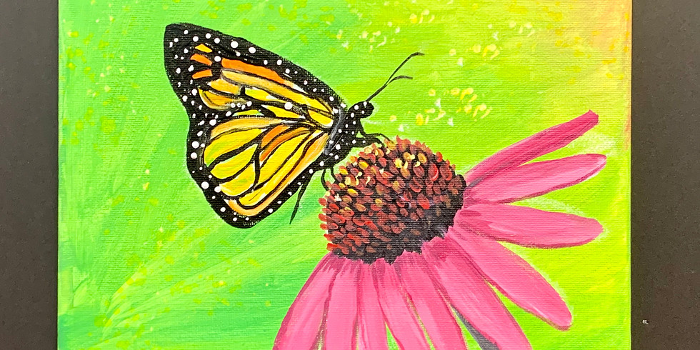 Butterfly Bloom! Virtual or In- Person Artsy Party!