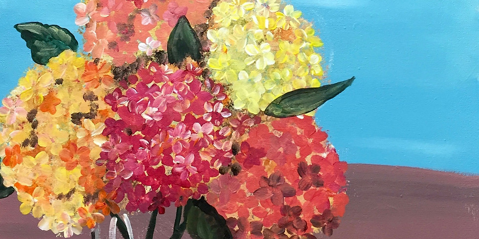 Fall Hydrangeas! Virtual Artsy Party