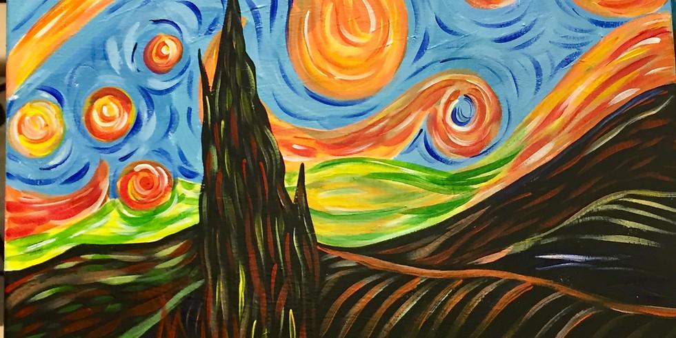Van Gogh's Fire Tree-Public Artsy Party!