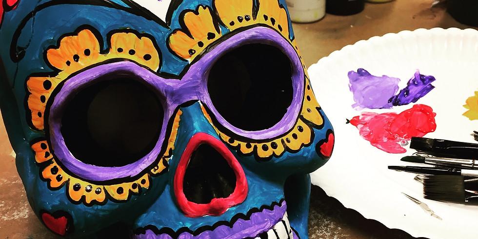 Sugar Skull- Calavera!- Celebrate Hispanic Heritage Month Artsy Party!!