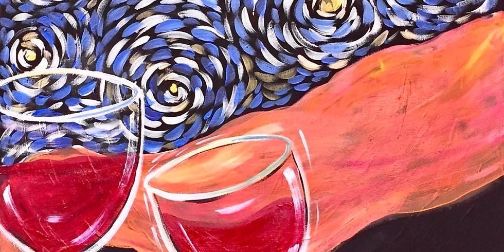 Virtual Artsy Party! - Starry Night Cabernet