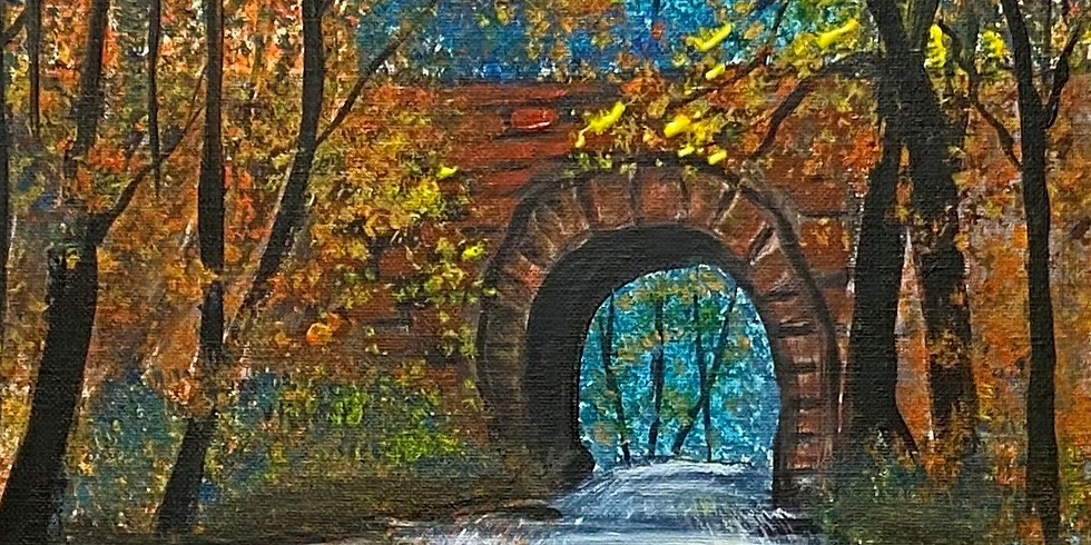 Bridge Over Autumn Water, Virtual or In-Person Artsy Party