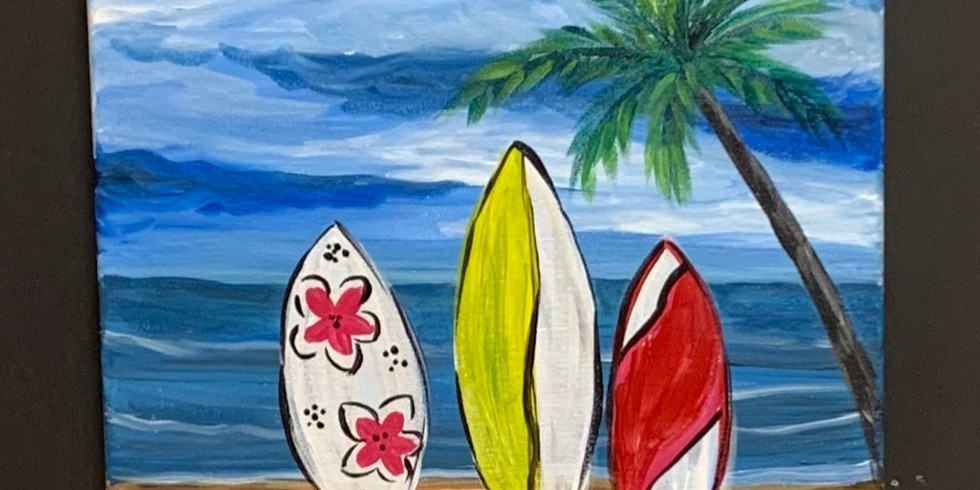 Virtual Artsy Party! - My Favorite Beach!
