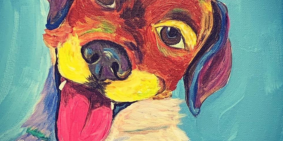 Pop Art Paint Your Pet Artsy Party!