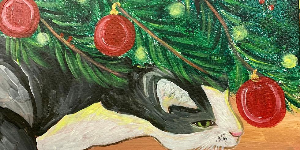 Christmas Cat- Public Artsy Party!
