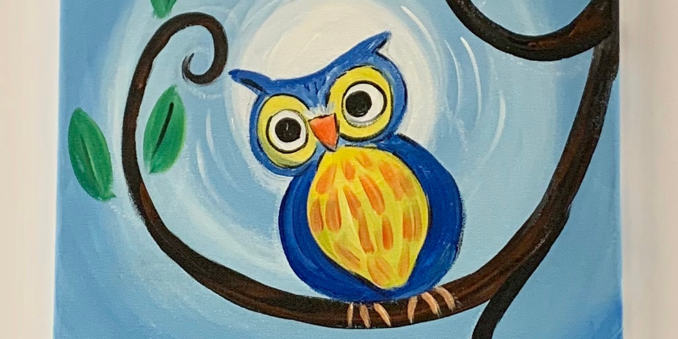 Virtual Artsy Party - Owl Sees...