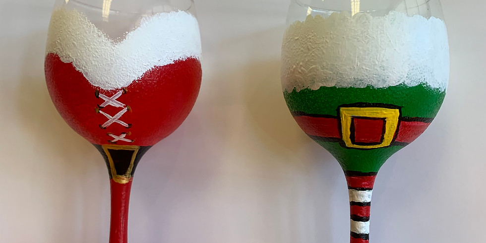 Christmas Wineglass DIY painting-Public Artsy Party-SOLD OUT-