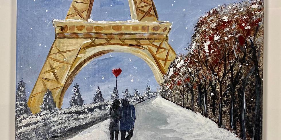 Winter In Paris!! Virtual or In- Person Artsy Party!