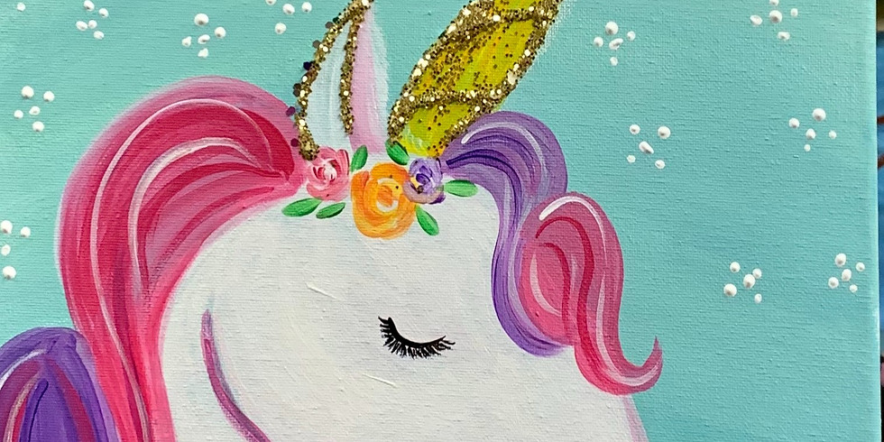 My  Magic Unicorn!!, Virtual or In-Person Artsy Party-Ages 5 in Up!!