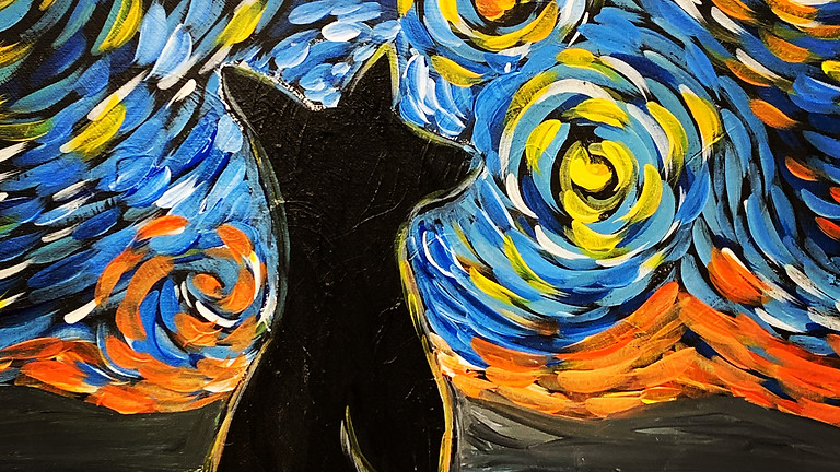 Starry Night Dog! Virtual or In- Person Artsy Party!