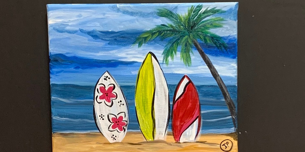 My favorite Beach! Virtual or In- Person Artsy Party!-SOLD OUT!!