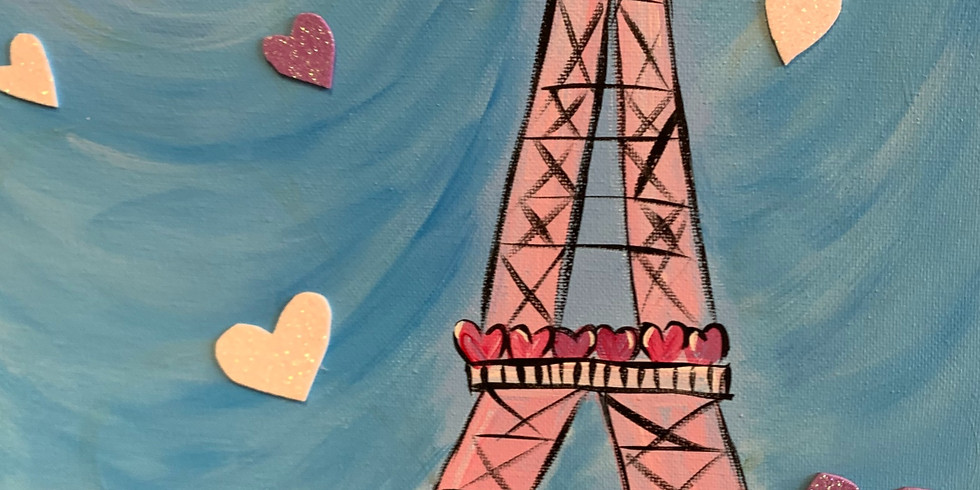 Spring Eifel Tower! Virtual and In- Person Artsy Party