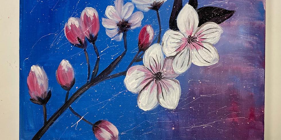 Sakura Flowers! Virtual or In- Person Artsy Party!