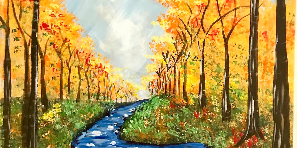 Creek In Fall- Public Artsy Party!