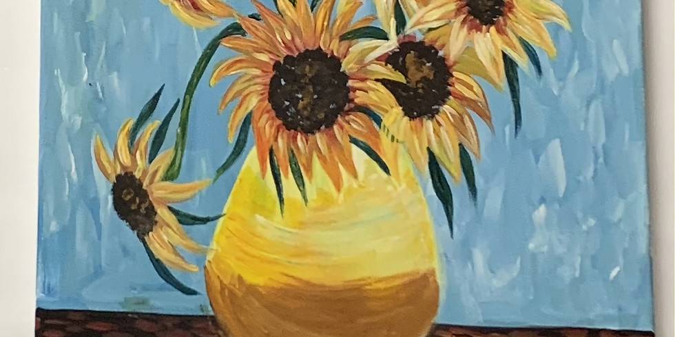 Private -Virtual Artsy Party! Van Gogh Sunflowers