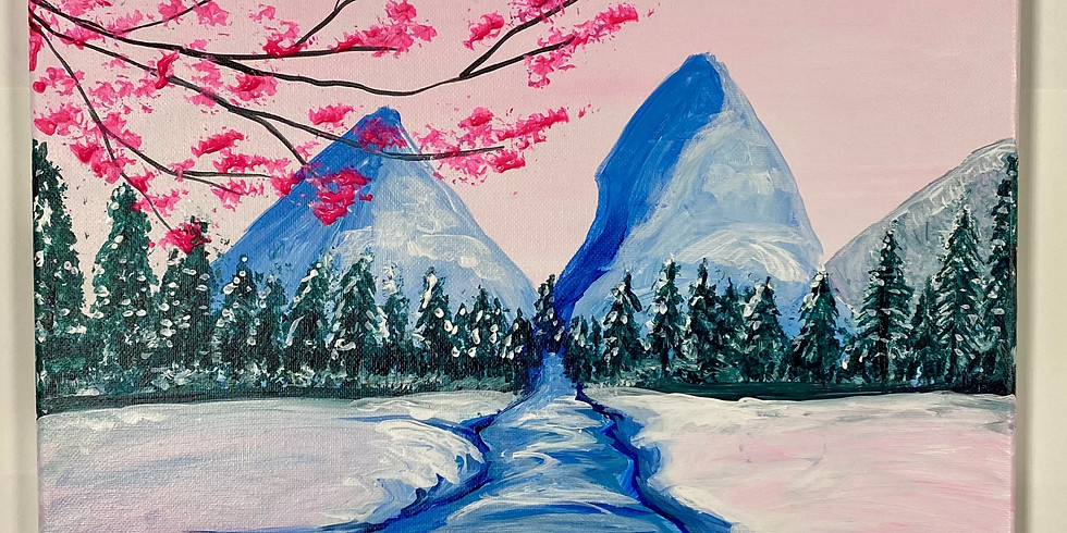 Snowing Blossom! Virtual or In- Person Artsy Party!
