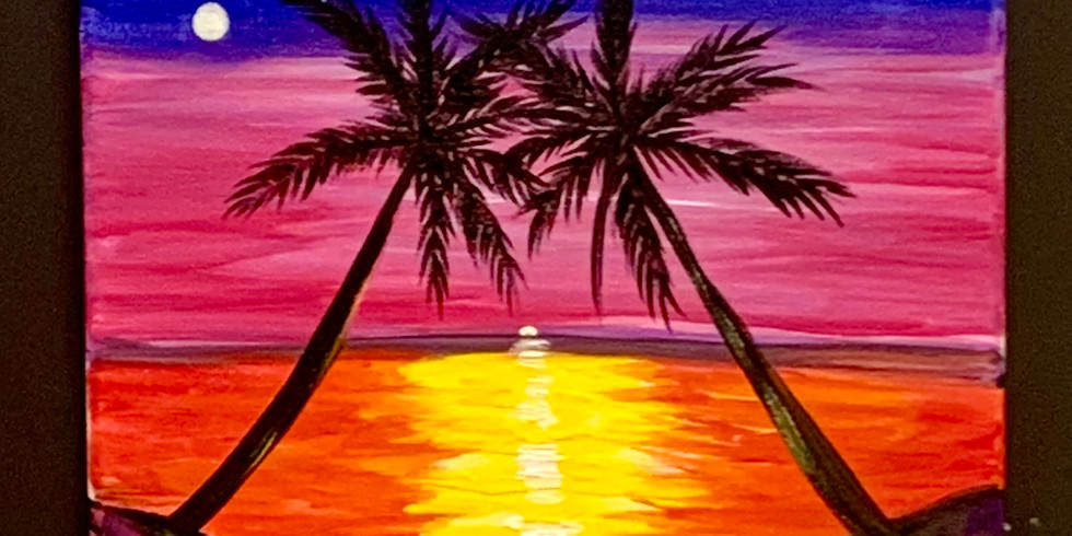 Sunset Together! Virtual or In- Person Artsy Party!