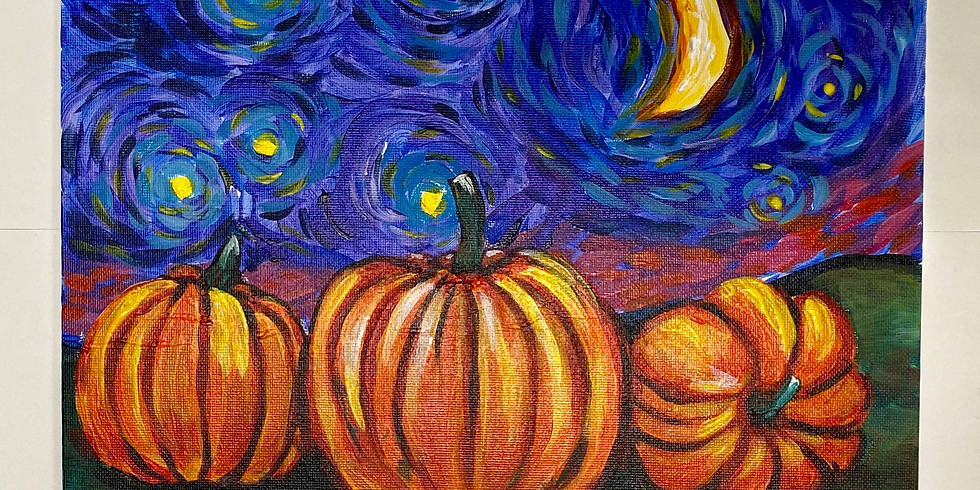 Starry Night Pumkin-Virtual or In- Person  Artsy Party-Sold Out-
