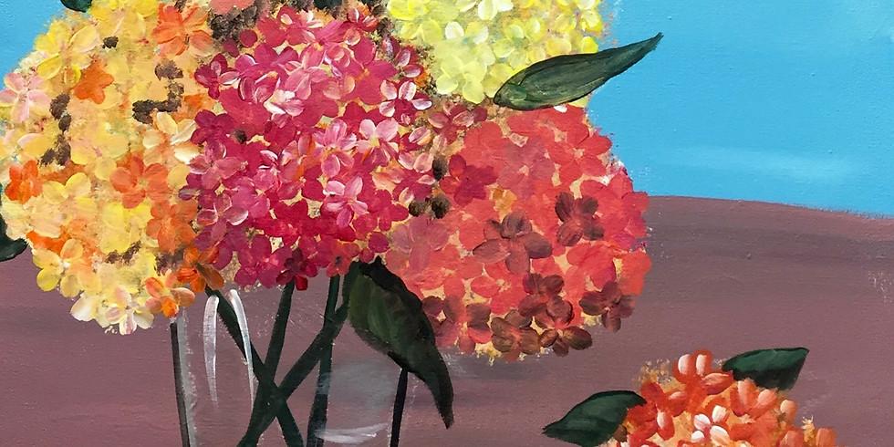 Fall In Hydrangeas! -Virtual or In- Person  Artsy Party