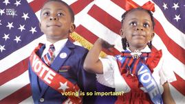 "Votemaster Caleb - ""Vote for Us Kids"""