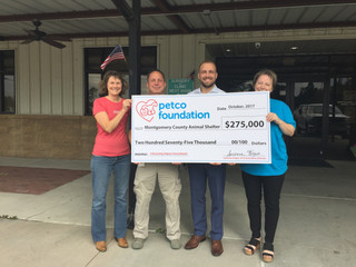 Petco Foundation Invests In Lifesaving Work at the Montgomery County Animal Shelter - Grants totalin