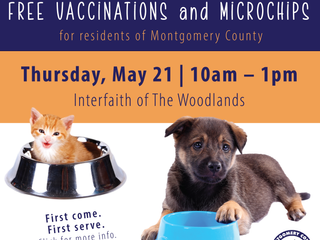May 21: FREE pet pantry, vaccinations and microchips!