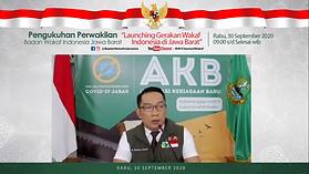 Gubernur Jawa Barat Ridwan Kamil Meresmikan Gerakan Wakaf Uang Untuk Jabar Juara Lahir Bathin