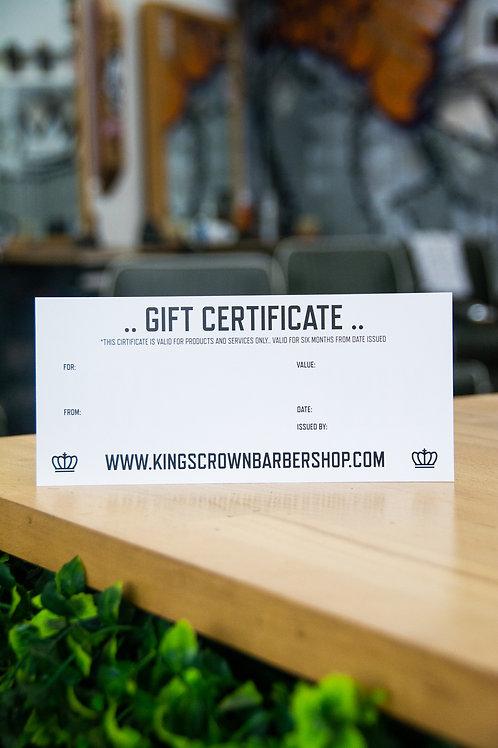 Kings Crown Gift Certificate