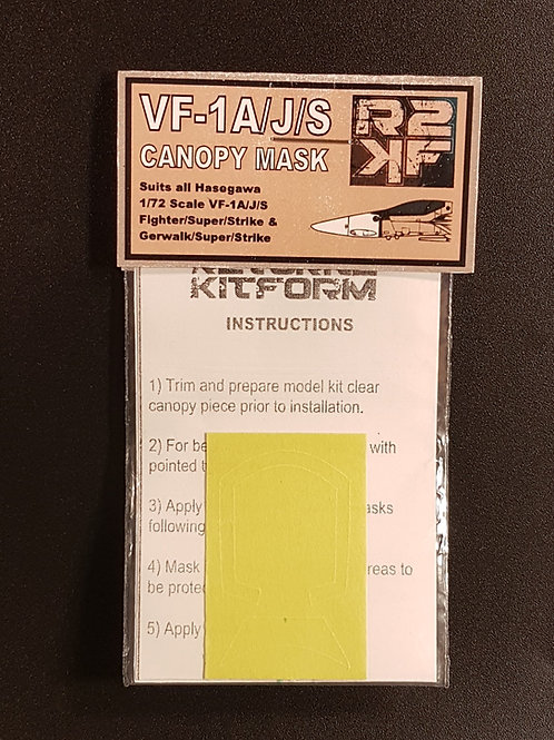 1/72 VF-1A/J/S Canopy Mask for Hasegawa