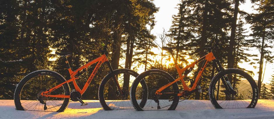 Zimní bike / Lysá hora ve sněhu