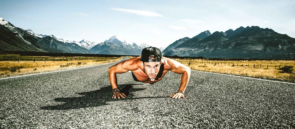 Workout s Petrem / Mt Cook Village / New Zealand