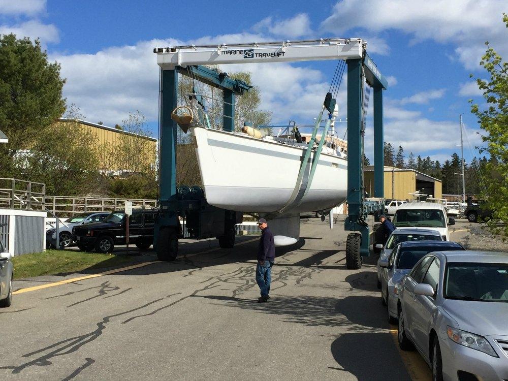 Sailboat Travelift Maine Storage